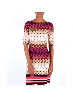 Jessicca Horward Multi Color Shift Dress