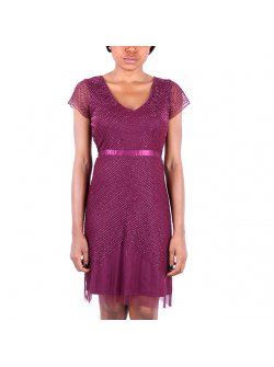 Adrianna Papell Short Beaded Cocktail Dress