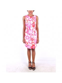 Msk Green Multi Color Shift Dress