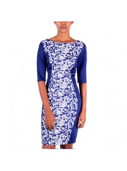 Sangria Royal Blue Short Dress
