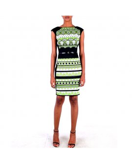 Chetta B Multi Color Short Dress
