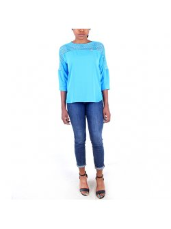 Dawn Line Blue Top with Gold Bow