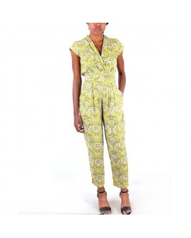 Arizona V-neck Lemon Multi Color Jump Suit