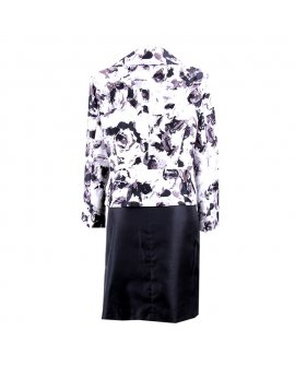 Le- Suit White and Black Skirt Suit