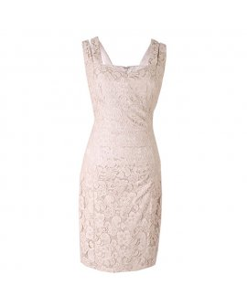 Jax Beige Lacy Short Dress