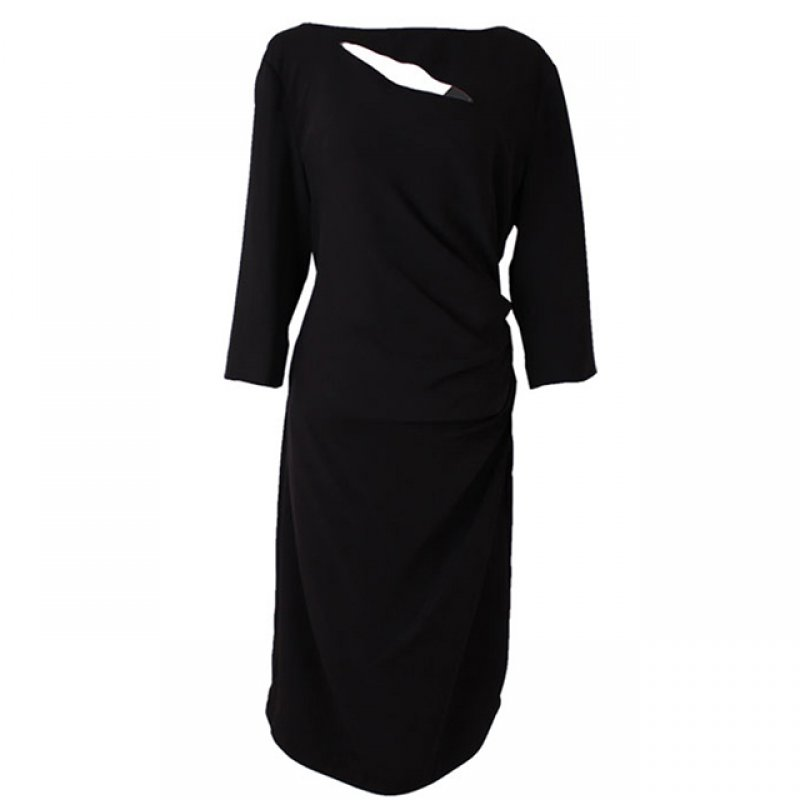 Chancelle Black Long Sleeve Casual Short Dress