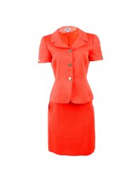 Tahari Arthur S Levine Orange Skirt Suit