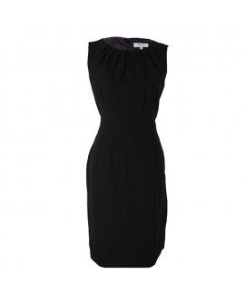 Kasper Brazilian Sky Black Sleeveless Work Dress
