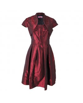 Eliza J Burgundy Short Dress with a Jacket