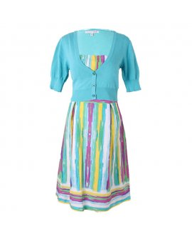 Madison Leigh Multi-Colour Short Dress with a Bolero Two Pieces Set