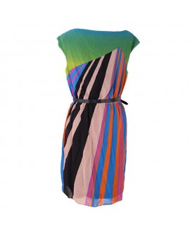 Adrianna Papell Multi Colour Chiffon Dress