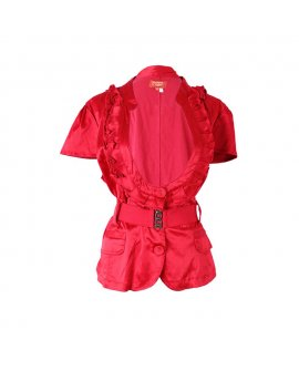Ashly Red Jacket with Pocket and a Red Designer Belt