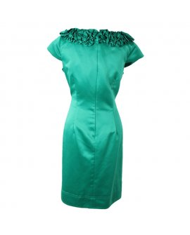 Jessicca Horward Green Simple Classic Short Dress
