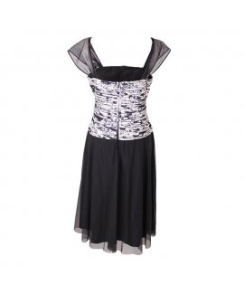 J and S Collection Black and White Beautiful Short Party Dress