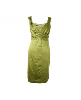 Jones New York Lemon Green Sleeveless Short Dress