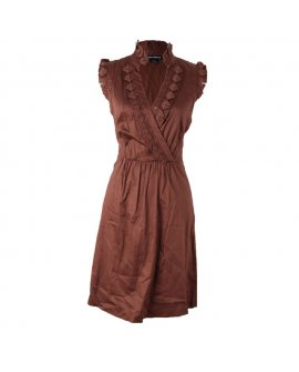 Jessicca Horward Coffee Brown Casual Short Dress