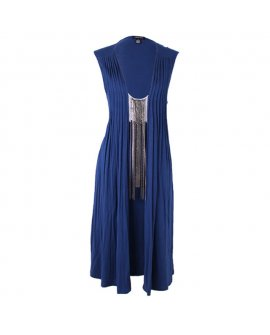 Argenti Biro Blue Casual Short Dress