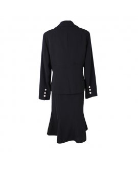 Ari Ellis New York Black Skirt Suit with Silver Botton