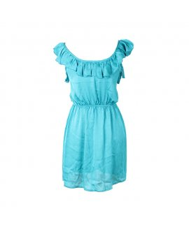 Trac Turquoise Blue Short Dress
