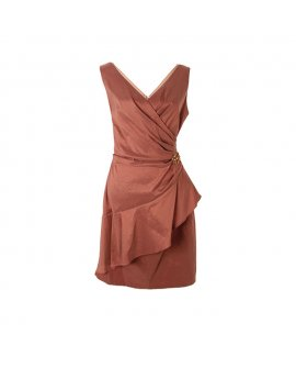 London times Brown Short Sleeveless Dress