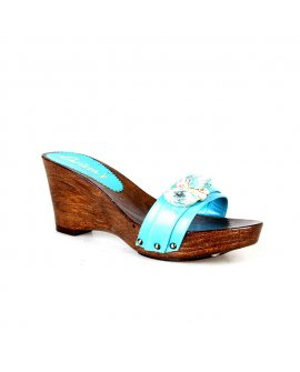 Carissa's Blue Wedge with Flowering Stones