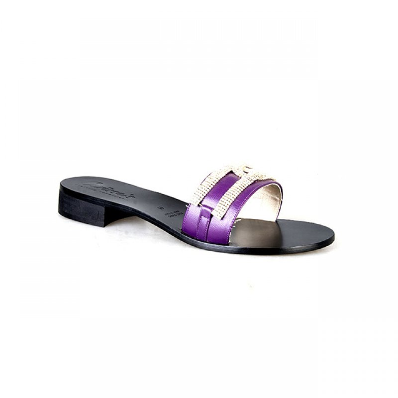 Carissa's Purple Slippers with Crystal Stone