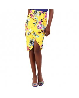 Gracia Floral Pattern Wrap Styled Skirt
