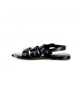 Valentino Orlandis Black Leather Sandal