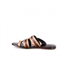 Valentino Orlandis Brown Double Color Slippers