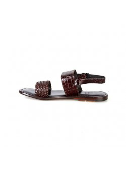 Valentino Orlandis Brown Leather Sandal