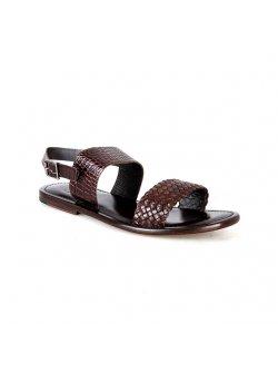 Valentino Orlandis Brown Leather Sandal