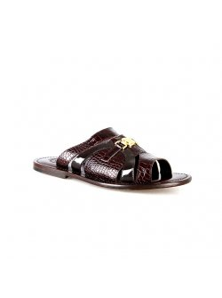 Valentino Orlandis Brown Leather Slippers